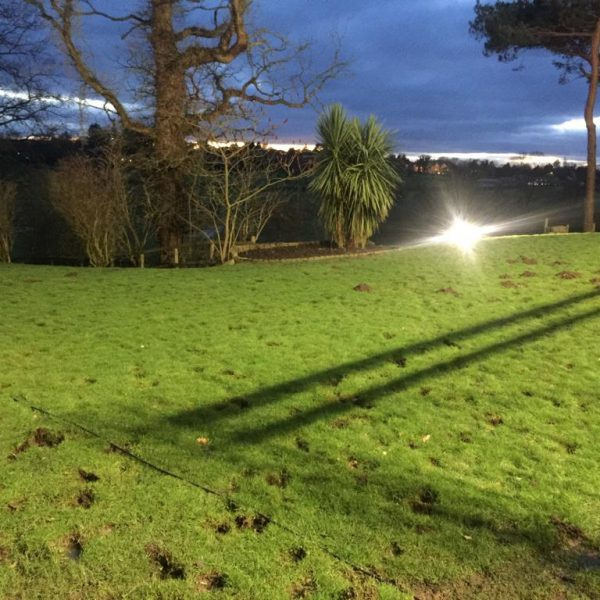 Security lighting installation example
